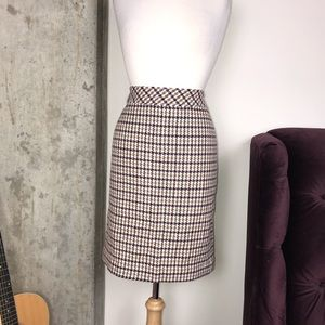 Talbots Skirts - Talbots Wool Houndstooth Multi Pencil Skirt